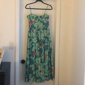 Mara Hoffman tropical floral midi dress